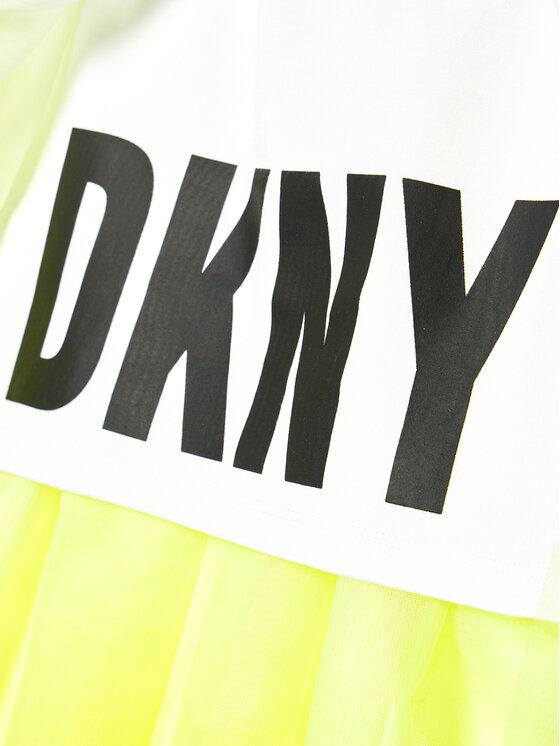 DKNY DKNY Spódnica D33569 S Żółty Regular Fit