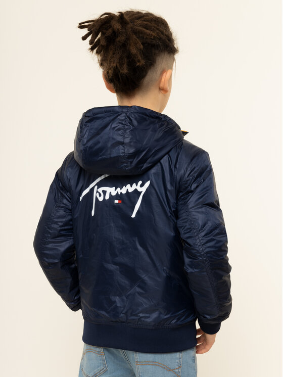 Tommy Hilfiger Tommy Hilfiger Giacca di transizione Reversible Quilted KB0KB05493 Multicolore Regular Fit