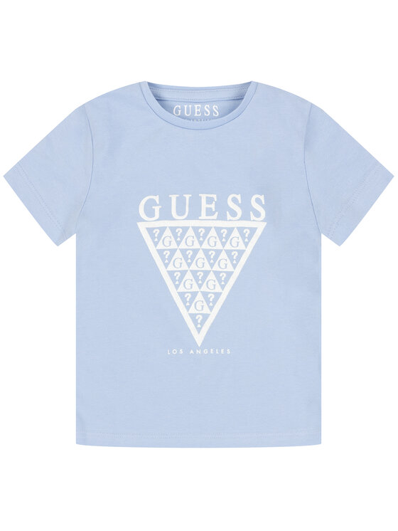 Guess Guess Marškinėliai K01I14 K82K0 Mėlyna Regular Fit