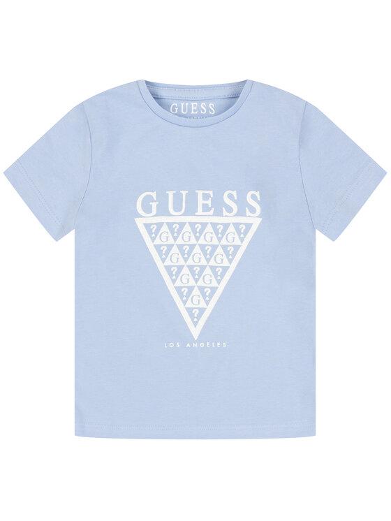 Guess Guess T-Shirt K01I14 K82K0 Modrá Regular Fit
