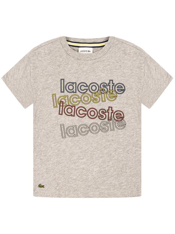 Lacoste Lacoste T-Shirt TJ8060 Γκρι Regular Fit