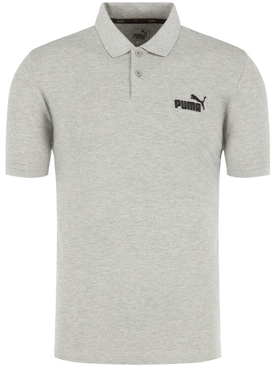 Puma Puma Polo Ess Pique 851759 Szary Regular Fit