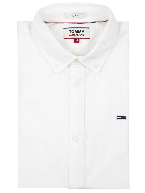 Tommy Jeans Tommy Jeans Marškiniai Tjw Light Twill DM0DM07504 Balta Slim Fit