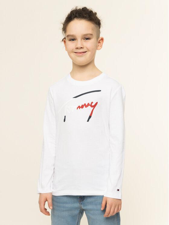 Tommy Hilfiger Tommy Hilfiger Μπλουζάκι Essential Scripttee KB0KB05421 Λευκό Regular Fit