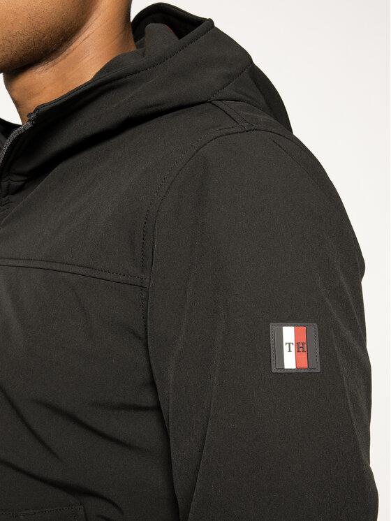 Tommy Hilfiger Tommy Hilfiger Geacă Zipped Logo Hoodie MW0MW12214 Negru Regular Fit