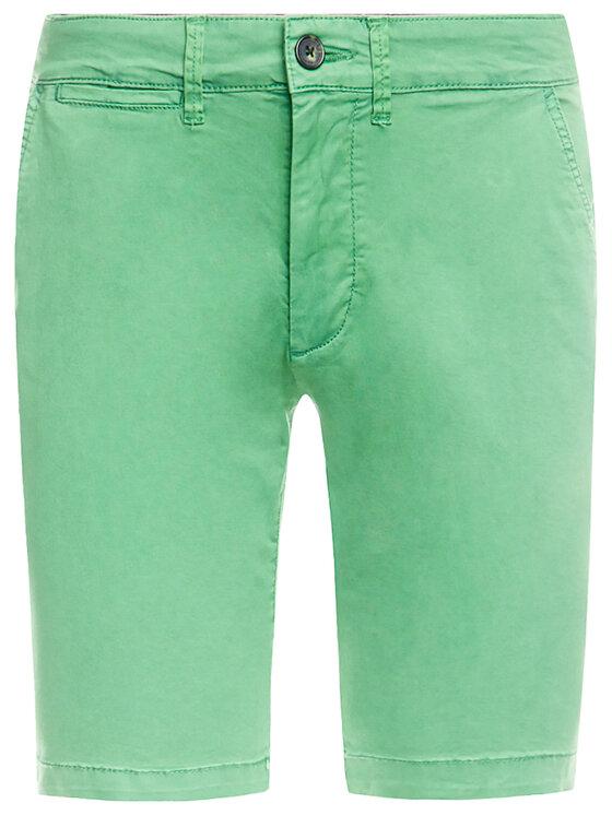 Pepe Jeans Pepe Jeans Bavlnené šortky Mc Queen PM800227C75 Zelená Regular Fit