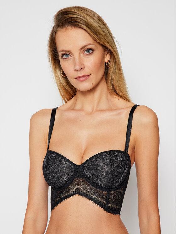 Calvin Klein Underwear Bardotė liemenėlė 000QF5404E Juoda