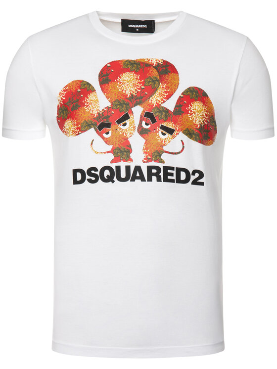 Dsquared2 Dsquared2 T-shirt Cool S74GD0654 Bianco Regular Fit