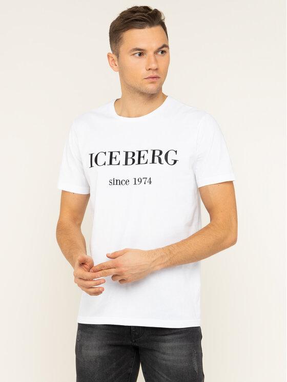 Iceberg Iceberg Тишърт 20EI1P0F0146331 Бял Regular Fit