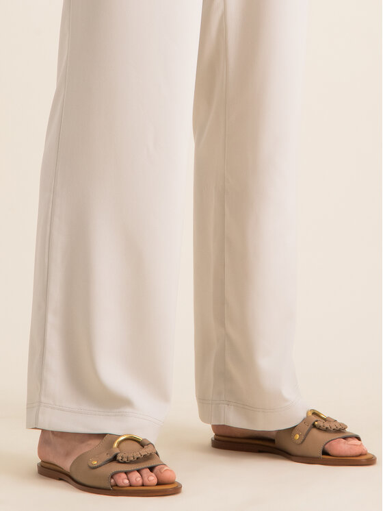 Max Mara Leisure Max Mara Leisure Текстилни панталони Pavia 31310106 Сив Regular Fit