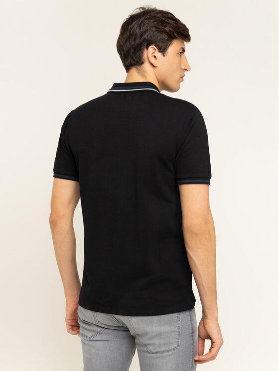 Guess Guess Тениска с яка и копчета M01P40 K7O60 Черен Slim Fit