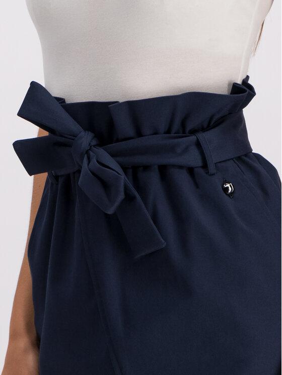 Trussardi Trussardi Mini sukňa 56G00070 Tmavomodrá Regular Fit