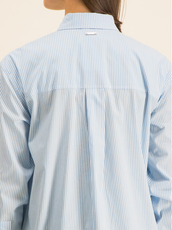 Guess Guess Košeľa Ls Isa W01H58 WCLQ0 Modrá Regular Fit