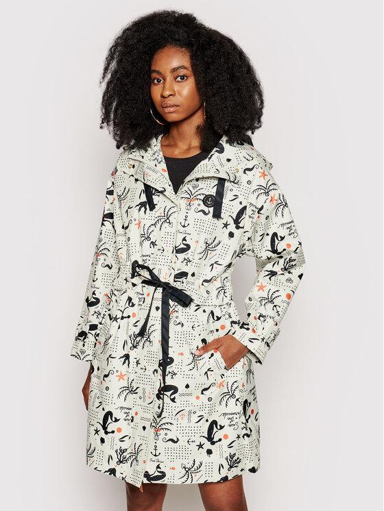 Femi Stories Demisezoninis paltas Bano Smėlio Oversize