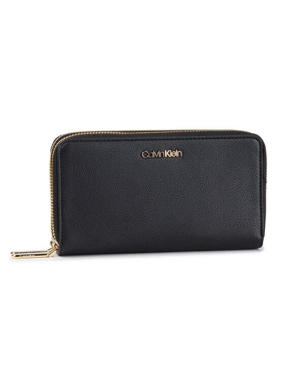 Calvin Klein Calvin Klein Duży Portfel Damski Ck Must Large Double Zip Around K60K605104 Czarny
