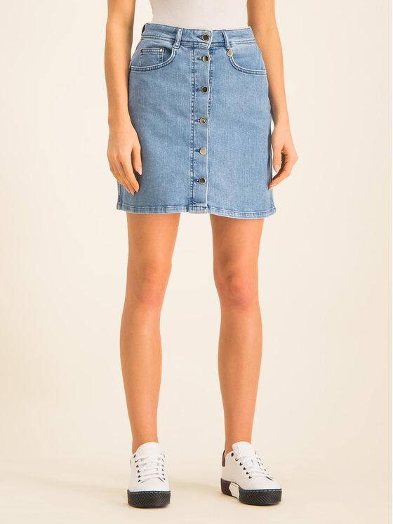 Pennyblack Džinsinis sijonas 31015119 Tamsiai mėlyna Regular Fit