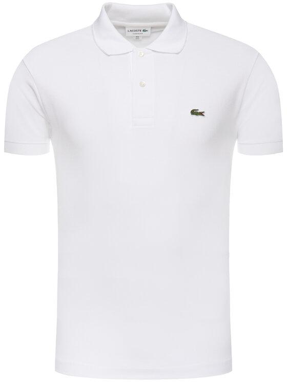 Lacoste Lacoste Тениска с яка и копчета L1212 Бял Classic Fit