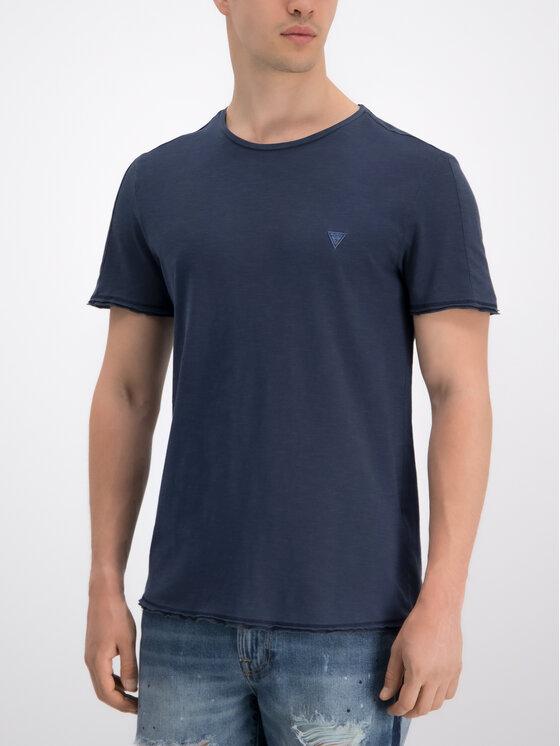 Guess Guess T-Shirt M93I58 K6XN0 Σκούρο μπλε Slim Fit