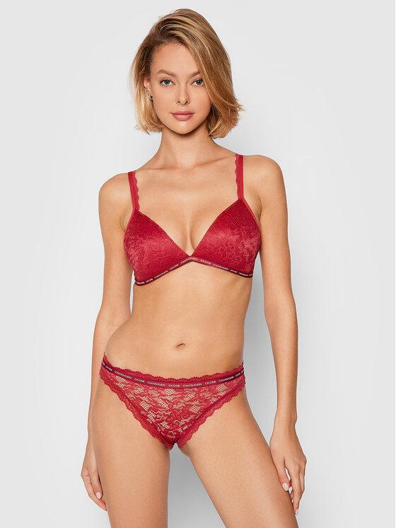 Calvin Klein Underwear Calvin Klein Underwear Biustonosz bezfiszbinowy 000QF6199E Bordowy
