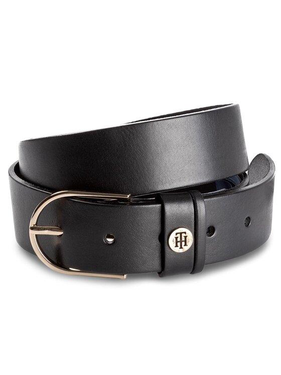 Tommy Hilfiger Tommy Hilfiger Дамски колан Classic Belt AW0AW05376 75 Черен