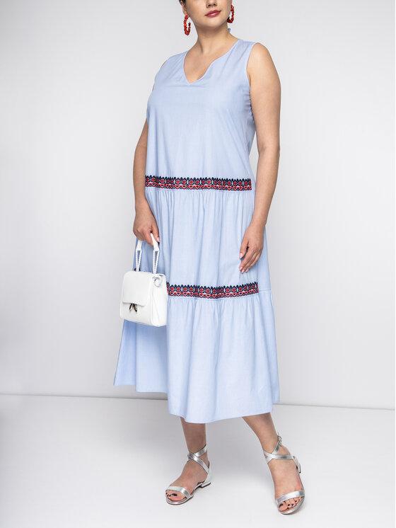 Persona by Marina Rinaldi Sukienka codzienna 1222019 Niebieski Regular Fit
