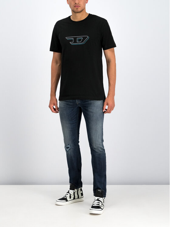 Diesel Diesel T-Shirt Umlt-Jake 00CG46 0TAWW Czarny Regular Fit