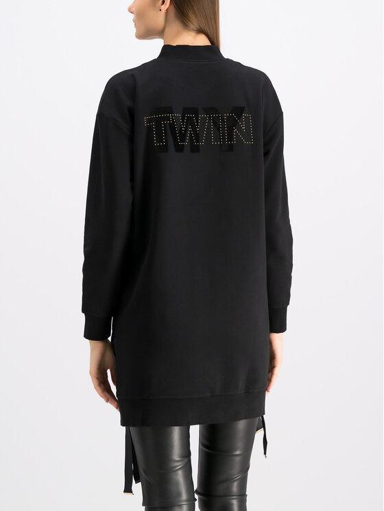 TWINSET TWINSET Mikina 192MP2360 Čierna Regular Fit