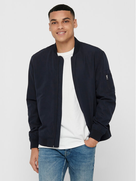 Only & Sons Bomber striukė Jack 22015866 Tamsiai mėlyna Regular Fit