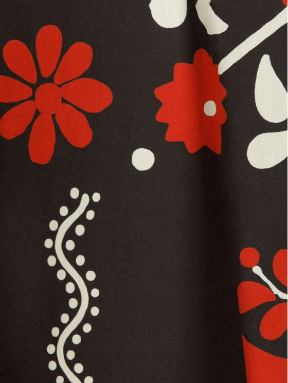 Red Valentino Red Valentino Trapéz szoknya RR0RAA75 Fekete Regular Fit