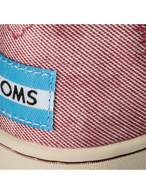 Toms Toms Κλειστά παπούτσια Deconstructed Alpargata 10011741 Κόκκινο