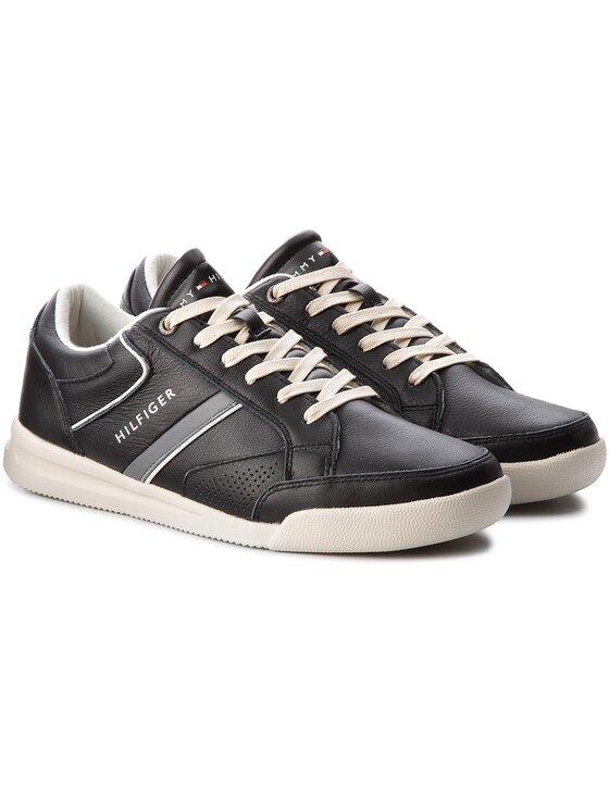 Tommy Hilfiger Tommy Hilfiger Sneakersy Corporate Detail Leather Sneaker FM0FM01620 Černá