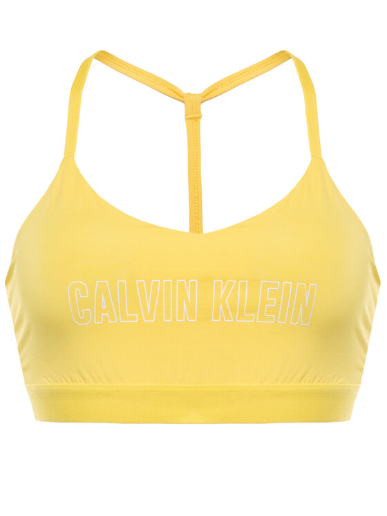 Calvin Klein Performance Calvin Klein Performance Сутиен-топ Low Support Sports Bra 00GWS0K134 Жълт