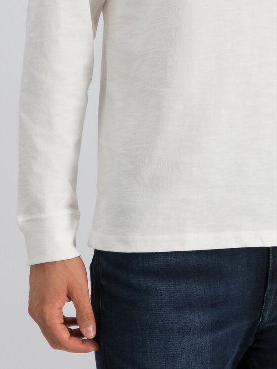 Tommy Jeans Tommy Jeans Longsleeve Tjm Logo DM0DM07015 Weiß Regular Fit