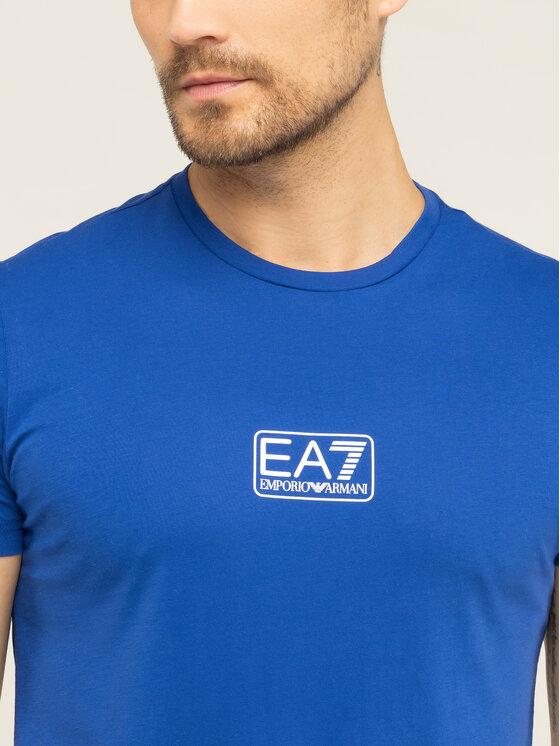 EA7 Emporio Armani EA7 Emporio Armani T-Shirt 8NPT11 PJNQZ 1570 Niebieski Regular Fit