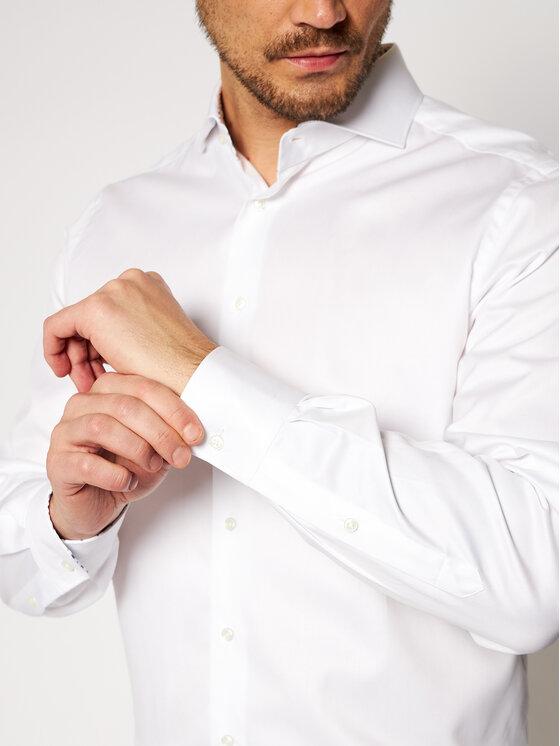 Emanuel Berg Emanuel Berg Πουκάμισο Harvard PWB46890 Λευκό Modern Fit