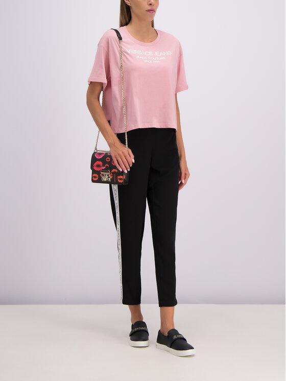 Versace Jeans Versace Jeans Marškinėliai B2HTB7T6 Rožinė Regular Fit