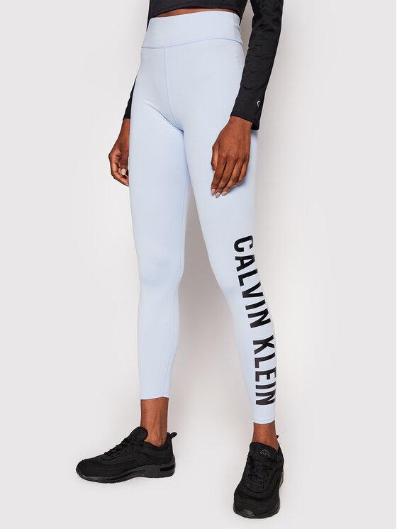 Calvin Klein Performance Leginsai Full Lenght 00GWF0L637 Mėlyna Slim Fit