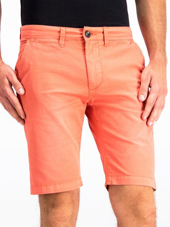 Pepe Jeans Pepe Jeans Bavlnené šortky PM800227C75 Oranžová Regular Fit