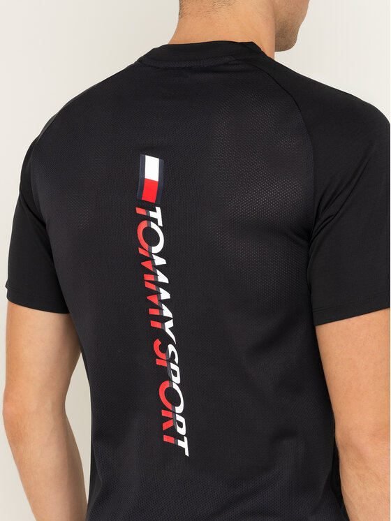 Tommy Sport Tommy Sport Póló Back Logo S20S200267 Fekete Regular Fit