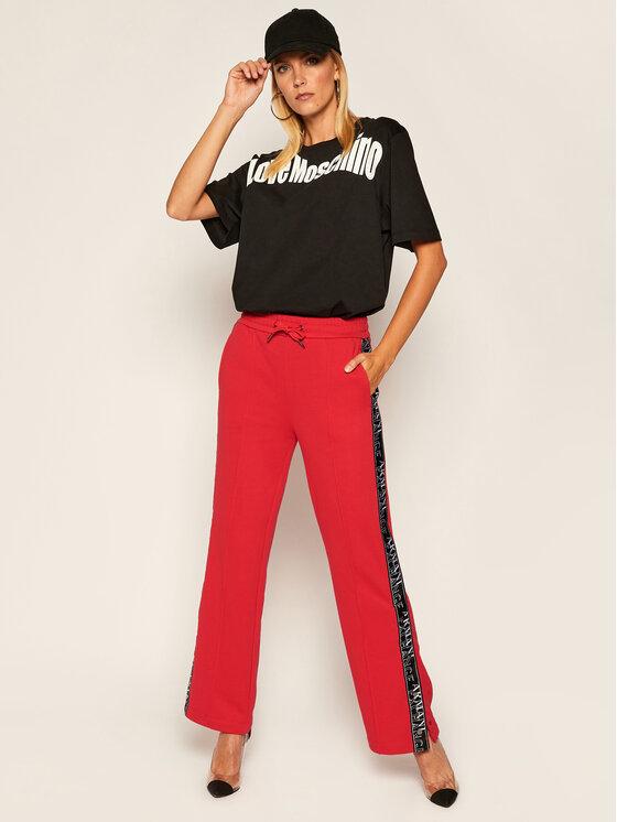 LOVE MOSCHINO LOVE MOSCHINO T-Shirt W4F8736M 3876 Černá Oversize