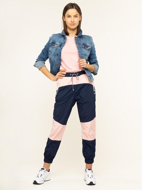 Tommy Jeans Tommy Jeans Sportinės kelnės Colorblock DW0DW07699 Tamsiai mėlyna Regular Fit
