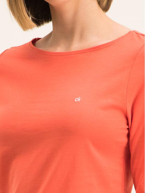 Calvin Klein Calvin Klein Bluzka K20K201511 Pomarańczowy Regular Fit