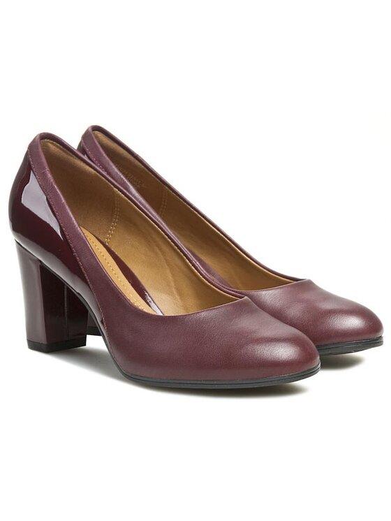 Clarks Clarks Pantofi Basil Auburn 261032784 Roșu
