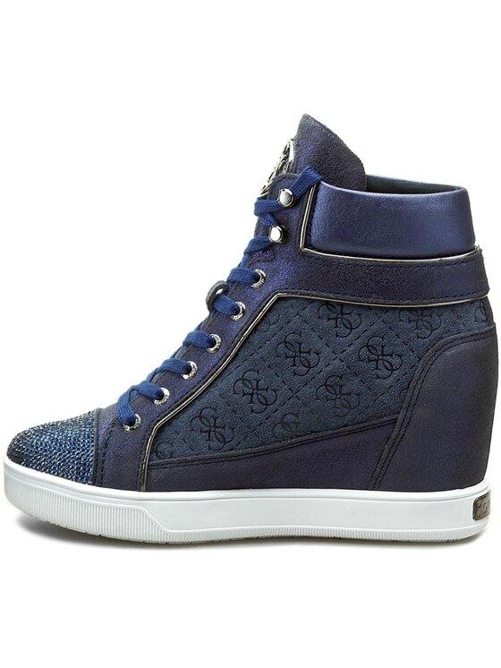 Guess Guess Sneakersy Furr FLFUR4 SUP12 Tmavomodrá