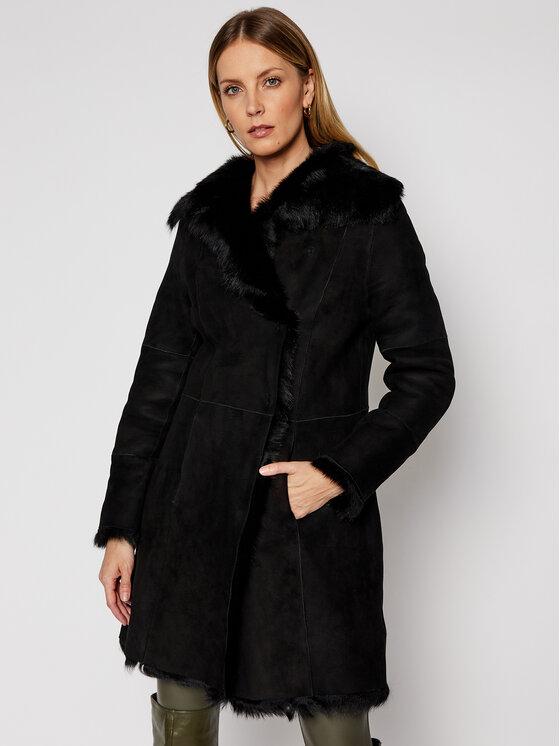 Ugg Žieminis paltas 1017644 Juoda Regular Fit