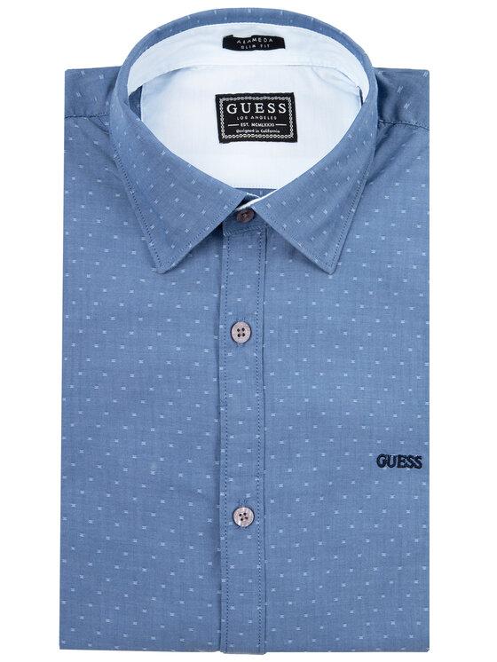 Guess Guess Košile M01H13 WCJQ0 Tmavomodrá Slim Fit