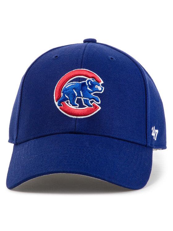 47 Brand Kepurė su snapeliu Chicago Cubs B-MVP05WBV-DLA Tamsiai mėlyna