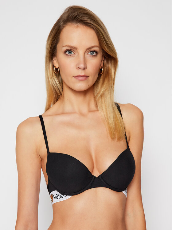 MOSCHINO Underwear & Swim MOSCHINO Underwear & Swim Podprsenka Push-up A4615 9003 Čierna