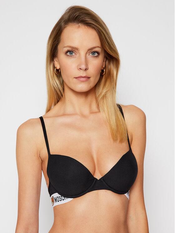 MOSCHINO Underwear & Swim MOSCHINO Underwear & Swim Podprsenka s kosticemi A4615 9003 Černá