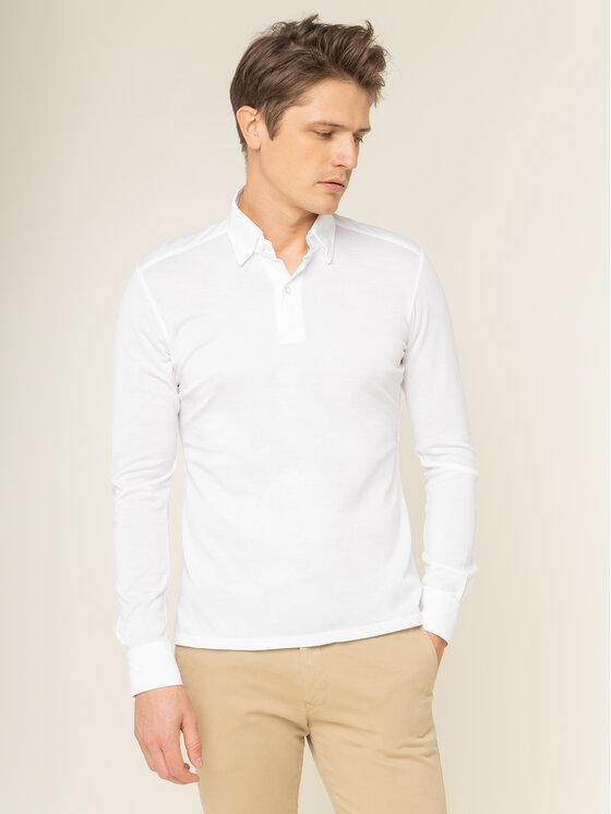 Emanuel Berg Polo marškinėliai H-Basel HBD PEB45765 Balta Slim Fit